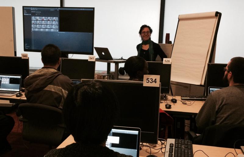 Sarah Goodman Video Editing 101 workshop